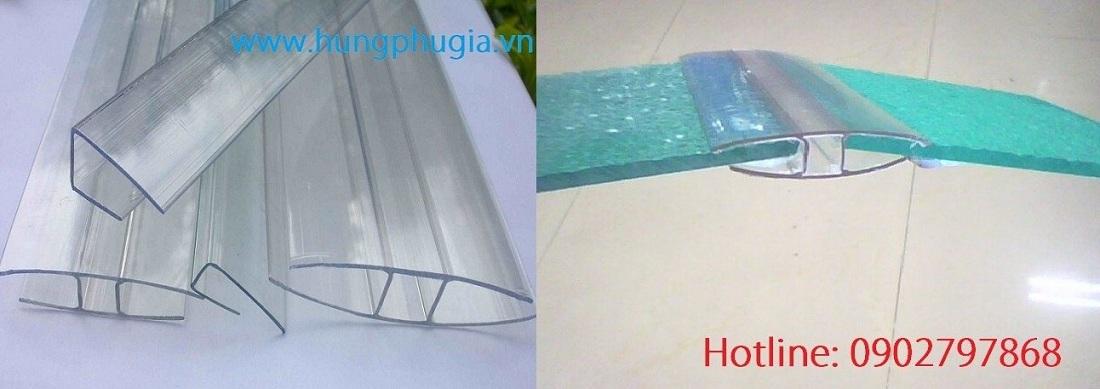 Nẹp H nối tấm polycarbonate
